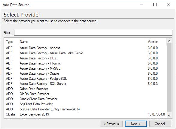 Add a data source - screenshot
